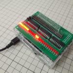 PBCラズパイGPIO-LEDモニターボード